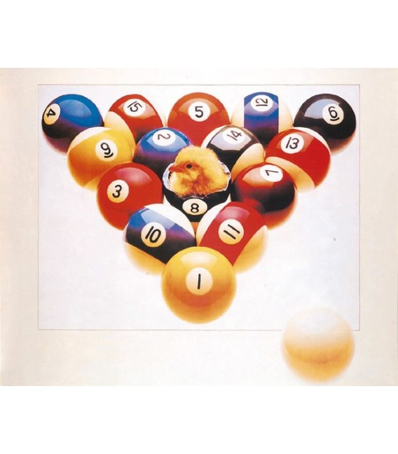 POSTER CHICK IN 8-BALL cm. 75X60