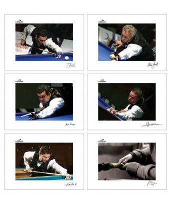 POSTERS LONGONI 'MASTERS OF BILLIARD' 6 PZ