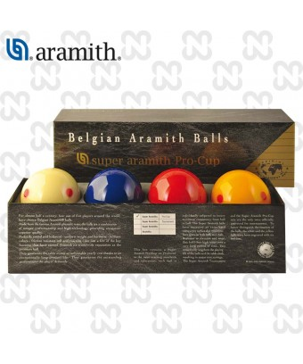 BILIE SET CARAMBOLA SUPER ARAMITH PRO-CUP 4 BILIE 61,5 mm