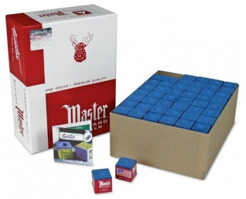 Gesso Master biliard Chalk box 144pcs. BLU