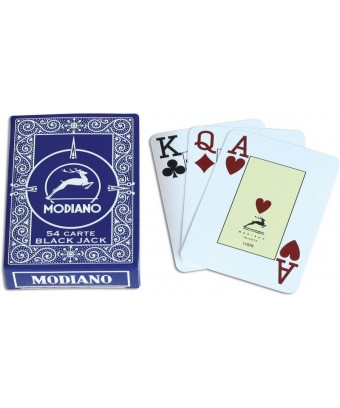 CARTE TEXAS POKER MODIANO PLASTICA BLU