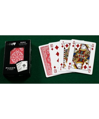 CARTE POKER 4 INDEX TABRIZ PLASTICA DORSO ROSSO