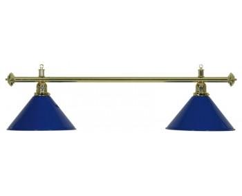 LAMPADARIO MOONLIGHT ASTA ORO, 2 CAMPANE BLU